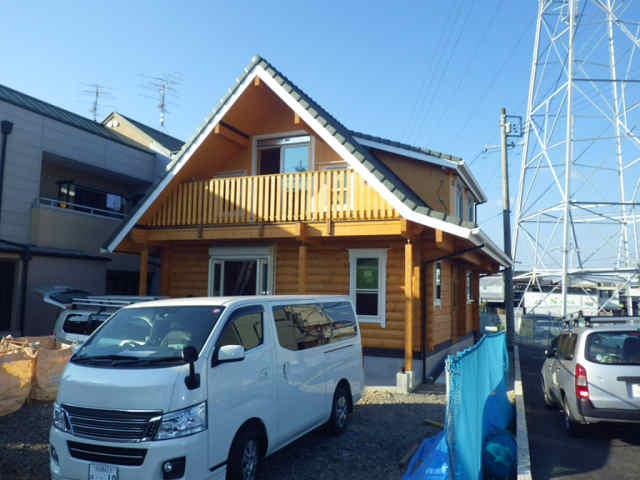 岐阜県マシンカット ログハウス