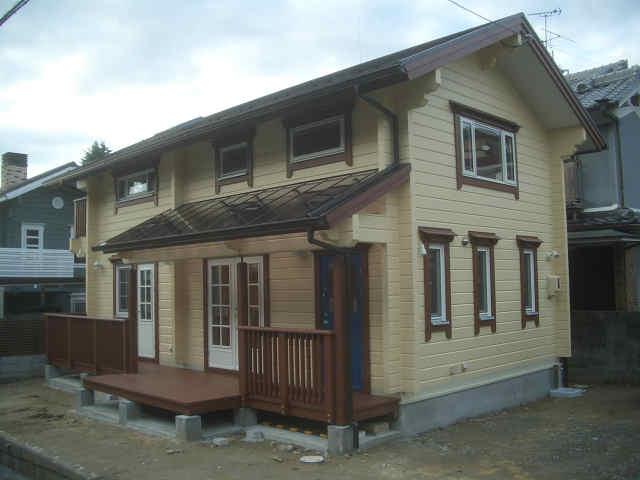 奈良県マシンカット ログハウス