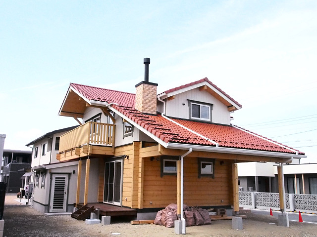 京都府マシンカット ログハウス