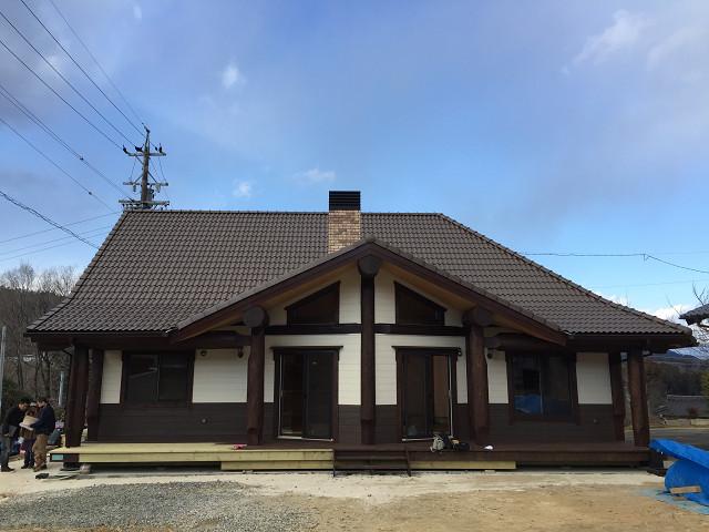 岐阜県ポスト&ビーム ログハウス