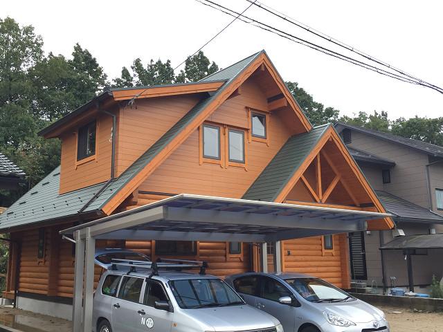 愛知県国産杉マシンカットログハウス