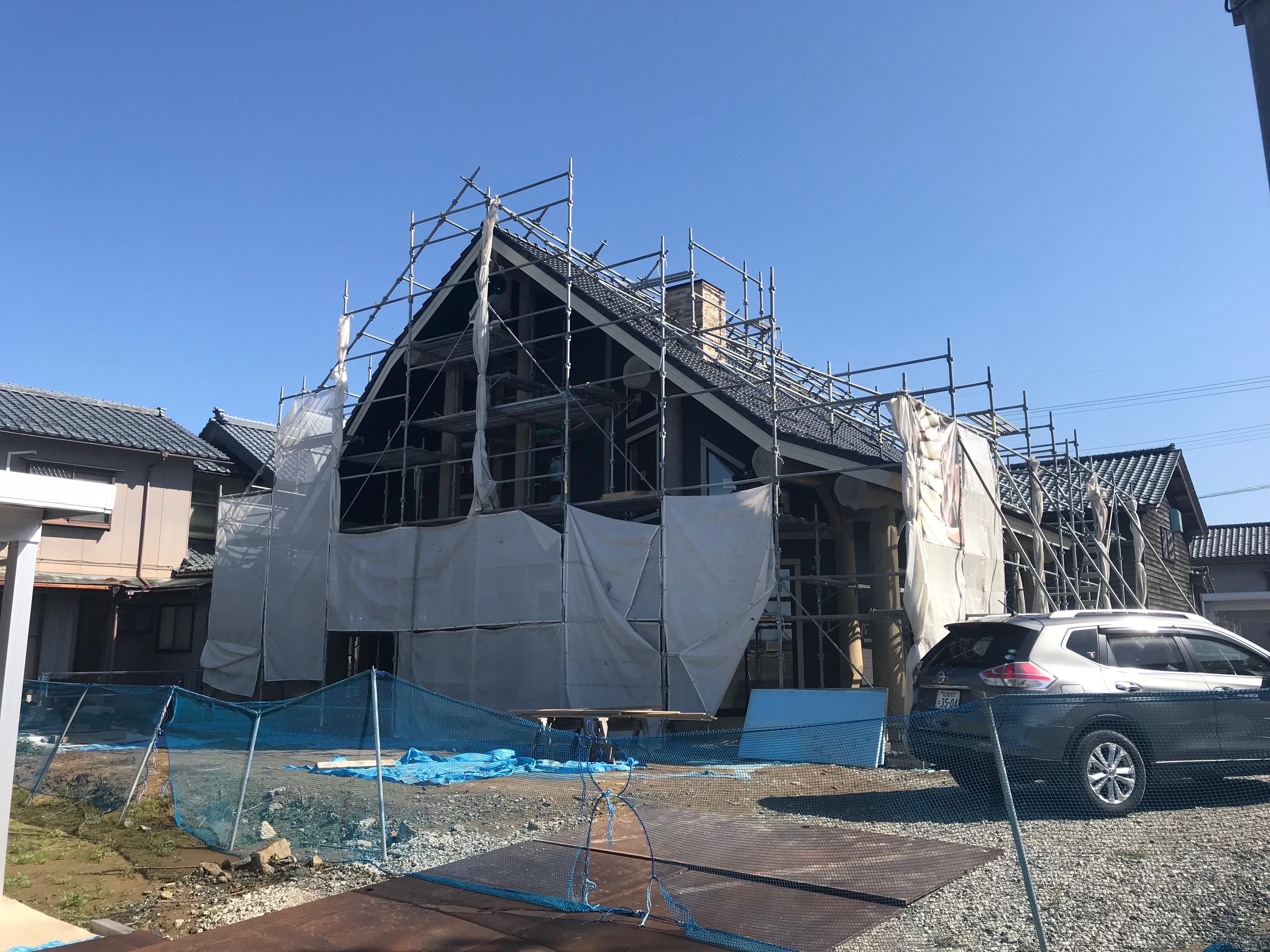 福井県国産ポスト&ビームログハウス